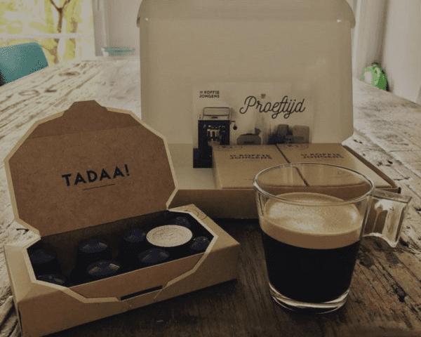de koffiejongens proefpakket koffiecups