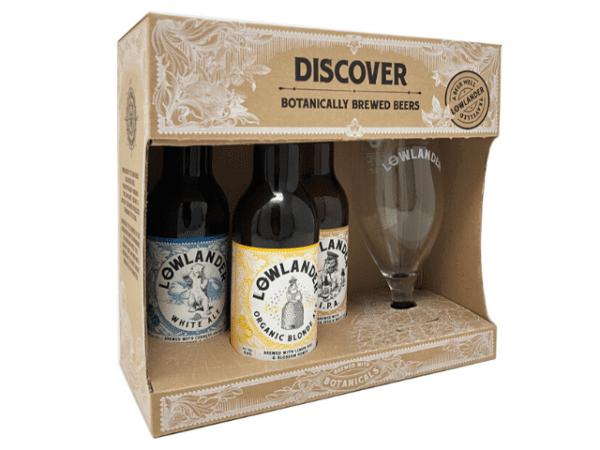 lowlander explorer cadeauset met glas